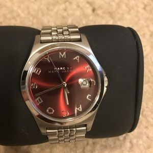 Marc Jacobs Burgundy and Silver watch!